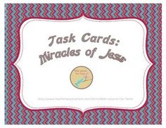 Bible Task Cards: Miracles of Jesus ($2.25)