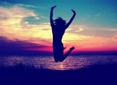 Jumping into the sunset...i can't wait for summer