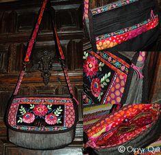 Gipsy Quilt: Combinaison & réinterprétation  note the use of trim and Kaffe fabrics