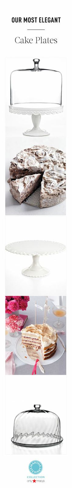 Our most elegant  cake stands from the Martha Stewart Collection at Macy's