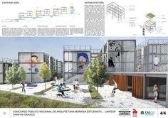 Premiados – Concurso Moradia Estudantil – UNIFESP – Campus Osasco – SP | concursosdeprojeto.org