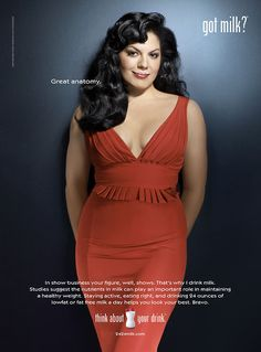 Sara Ramirez. Great anatomy. And also, I'm also pinning this because the US 'Got milk?' campaign is one of the greatest marketing campaigns of all time.