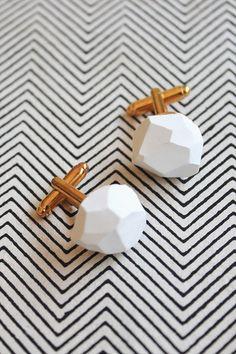 DIY Geo cufflinks
