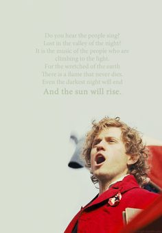 Glorious pic to accentuate glorious words. If you did not sing this you haven't seen the musical!