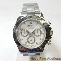 Genuine Rolex Daytona Cosmograph Chronograph Chronometer 116520 Mens Watch #Rolex #Sport