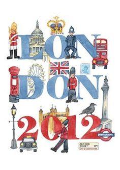 Andi Bunbury watercolours - Landmark London