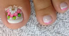 Pedicure, Nail Designs, Lily, Nail Art, Beauty, White Nail Beds, Nails Inspiration, Nice Nails, Designed Nails