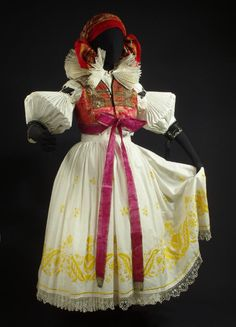 Woman's costume from Hana, Czech Republic - great sleeves Costumes Around The World, Folk Embroidery, Ethnic Dress, Folk Costume, Ethnic Fashion, Hana, Czech Republic, Traditional Dresses, Handmade Art