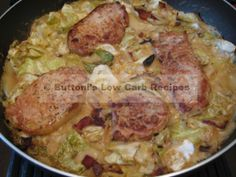 My husband isn't crazy about cooked cabbage, but he actually likes this dish. The low-carb mushroom soup, onion and bacon tone the cabbage down. Dishes like this one are a perfect ex…
