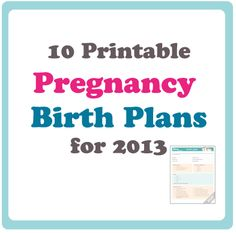 Free Birth Plan Printables   Pinteres