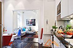 Hoa, quả đầy màu sắc ở khắp nơi trong mẫu thiết kế nội thất chung cư mini