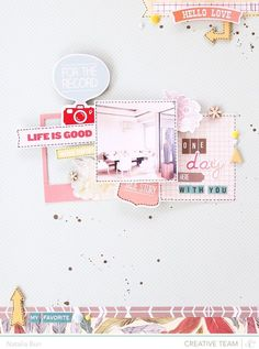 papercrafting scrapbook layout - Studio Calico Sundrifter » blinks.of.life