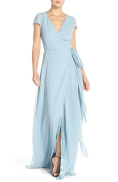 Pretty light blue bridesmaid dresses for elegant blue wedding parties. Choose from mint, ice or gray blue colors.