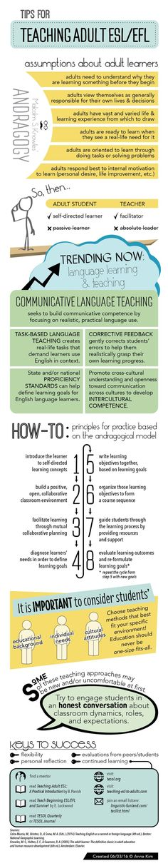 Tips for Teaching Adult ESL/EFL Also: DOWNLOAD PDF – Letter Size DOWNLOAD PDF – Double Sided Bookmark