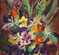 Mildred Bendall, Étude de Fleurs, 1930 #flower #painting