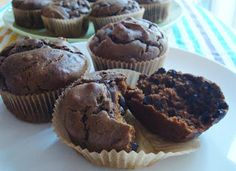 "Find out what secret ingredient makes these flourless gluten-free Sneaky Chocolate Peanut Butter Muffins work. Not too sweet ""peanut butter cup"" muffins! Gluten Free Muffins, Gluten Free Treats, Gluten Free Desserts, Paleo Treats, Gluten Free Kitchen, Gluten Free Baking, Peanut Butter Muffins, Chocolate Peanut Butter, Chocolate Muffins"