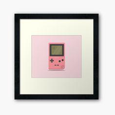 'Pink Nintendo Game Boy ' Framed Print by SinandTonic Wall Prints, Framed Art Prints, Game Boy, Off Colour, Box Frames, Nintendo Games, Print Design, My Arts, Printed