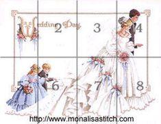 Novios en Punto de Cruz (pág. 13) | Aprender manualidades es facilisimo.com Graph Crochet, Wedding Cross Stitch, Valentines Day Decorations, Cross Stitching, Cross Stitch Patterns, Princess Zelda, Crafts, Lavander, Weddings