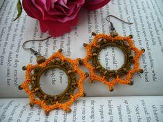 Crochet Earrings - Circle Earrings - Crochet Jewellery. $6,90, via Etsy.