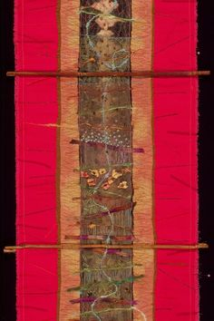Detail, 'Twenty Feet Deep' by Brooke Atherton.  Seen at SAQA Idaho Montana.
