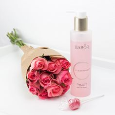 "BABOR Cosmetics auf Instagram: ""Start the week with a present to yourself: your favourite flowers and a clean skin with BABOR Rose Toning Lotion!"