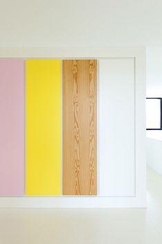 Van Staeyen interieurontwerp. Wij overstijgen standaardoplossingen door creatieve, logische en vooral leefbare interieur ontwerpen. Bedroom Cupboard Designs, Bedroom Cupboards, Dream Home Design, House Design, Pine Wardrobe, Ideal Shape, Wall Colors, Pink Yellow, Kids Bedroom