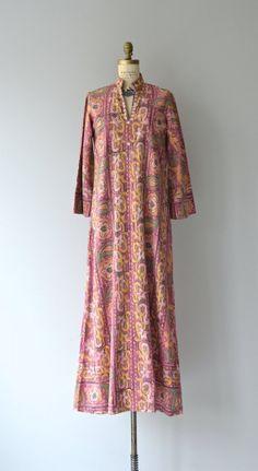Santosha caftan vintage 1970s caftan indian cotton by DearGolden