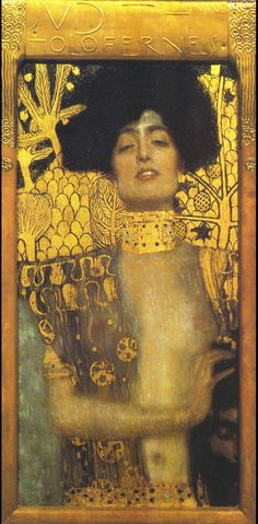 Gustav Klimt (July 14, 1862 – February 6, 1918) Judith I Oil, gold ...