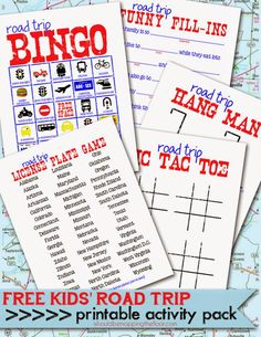 Free Printable Kids' Road Trip Activities | Perfect for summer trips | Laminate and use with dry erase for endless fun!