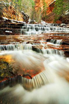 Subway Cascades, zion  national parkcascades by Joshua Cripps, via Flickr