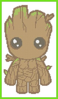 BOGO FREE! Superheroes GROOT Marvel Comics Guardians of the Galaxy Movie Cross Stitch Pattern - pdf pattern instant download #237 by Rainbowstitchcross on Etsy https://www.etsy.com/listing/525924276/bogo-free-superheroes-groot-marvel