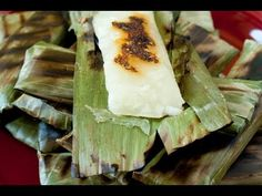 VIDEO Apigige' or apigigi or cassava and coconut in banana leaves