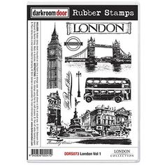 Darkroom Door Rubber Stamp Set - London Vol 1