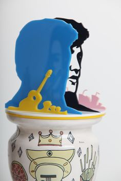 'Elvis' side view, from contemporary canopics lucy foakes