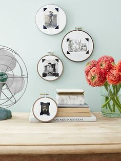 Embroidery-Hoop Photo Frames