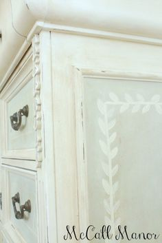 MM Dresser Makeover using Amy Howard At Home Toscana Milk Paint