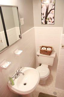 My Old Kentucky House: Temporary Insanity- Painting Bathroom Tiles