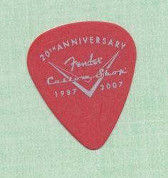3 Fender Custom 20th Anniversary guitar picks - thin gauge #Fender #GuitarPicks
