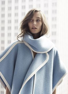 Josephine Le Tutour by Cedric Bihr in gorgeous pastel blue outerwear