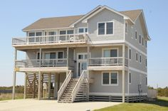 #3   RESERVE IT  South Nags Head  |  Glad Home 159 |    Milepost 18.4  |   7 bedrooms   |   Access to Beach (500 Ft.), & 3 Weekly Passes to the Outer Banks Fishing Pier   |   Small TV room    |  Rec room   $5800