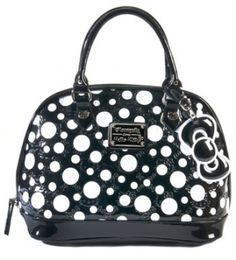 Loungefly Hello Kitty Patent Embossed Polka Dot Bag Polka Dot Bags 4b447ab783f97