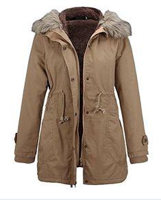 Keaac Womens Winter Down Puffer Parka Jacket Faux Fur Hood Jackets Maxi Overcoat