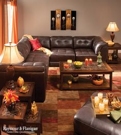 If you like to entertain, then you'll love the convenience of a modular. With great views all around and snacks within reach, this practical arrangement is a sure winner for football game watching or other fall parties!