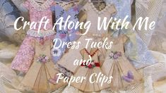YouTube Vintage Crafts, Vintage Dolls, Glue Crafts, Paper Crafts, Paperclip Crafts, Origami Paper Art, Origami Cards, Pop Up, Paper Fashion