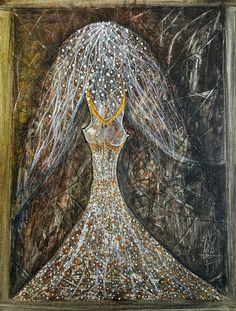 'MOON LADY' by marachowska on artflakes.com as poster or art print $19.60