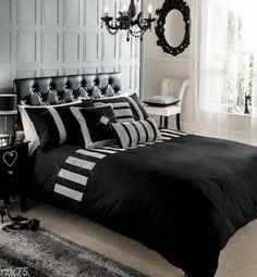Luxury-Diamante-Duvet-Cover-Set-With-Pillow-Cases-Designer-Bed-Linen-Quilt-Sets