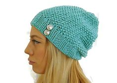 Hey, I found this really awesome Etsy listing at https://www.etsy.com/ca/listing/177189713/knit-button-beanie-light-green-hat-hat