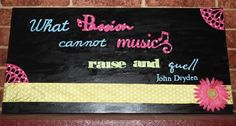 Music Quote on painted canvas