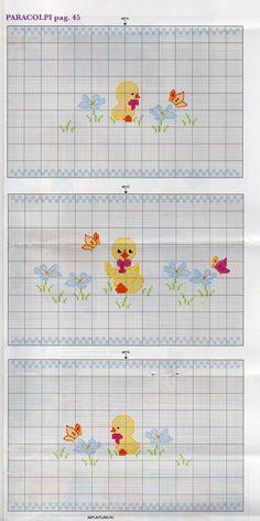 sm Cross Stitch Art, Cross Stitch Animals, Cross Stitch Patterns, Embroidery Stitches, Embroidery Patterns, Pattern Pictures, Knitting Charts, Needlepoint, Baby Shower Gifts
