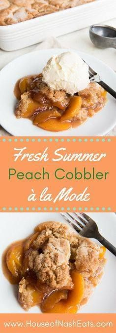 Fresh Peach Cobbler Fresh Peach Cobbler just may be the ultimate summer dessert comfort food. Its simple easy and a timeless classic with a buttery cobbler topping fresh juicy peaches and hints of cinnamon in a rich sweet syrup. This is the best peach cobbler I have ever eaten! It has a perfectly wonderful crust that is crisp on top but is also soft and moist and chewy thanks to the juicy peaches bubbling below it. Recipe : http://ift.tt/1hGiZgA And @ItsNutella  http://ift.tt/2v8iUYW  Fresh…